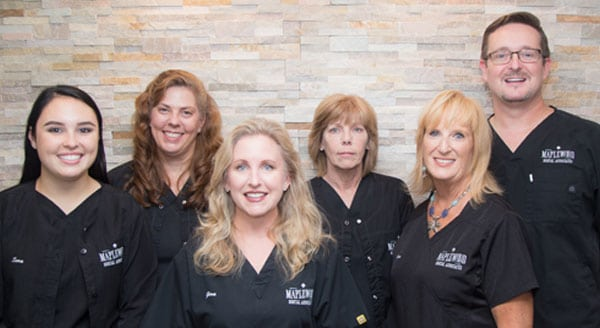 Maplewood dental hygiene team